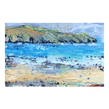 Emma Haggas, View from the Beach, Cornwall